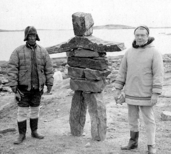 Budd Feheley and Osuitok Ipeelee, South Baffin Island,  ca.1961