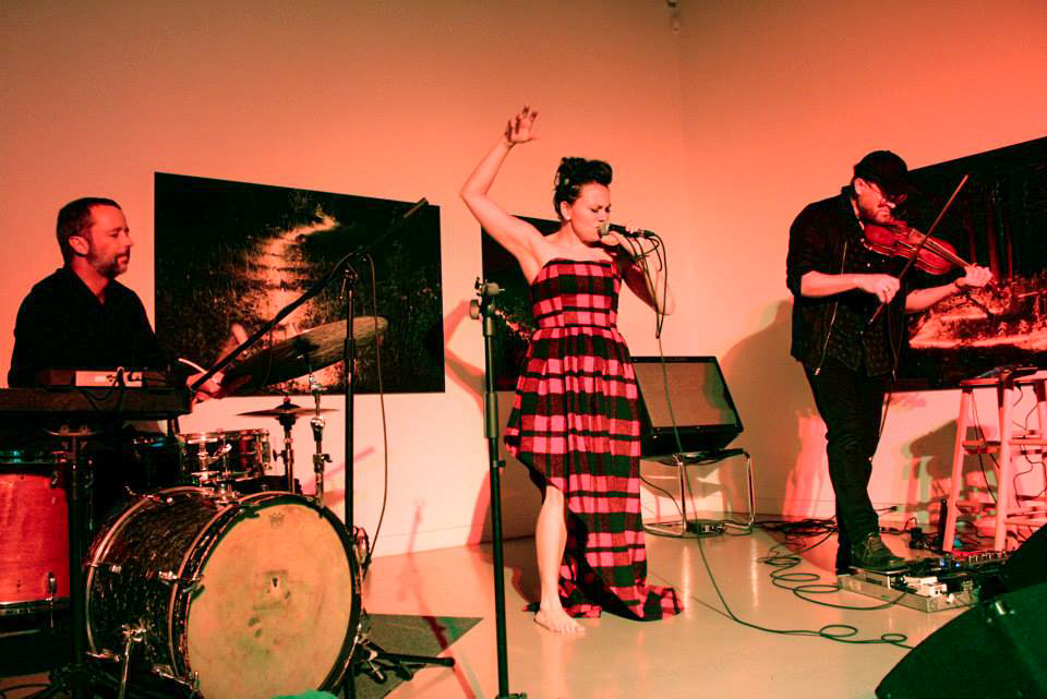 Tanya Tagaq performing in Centre Space, 2014
