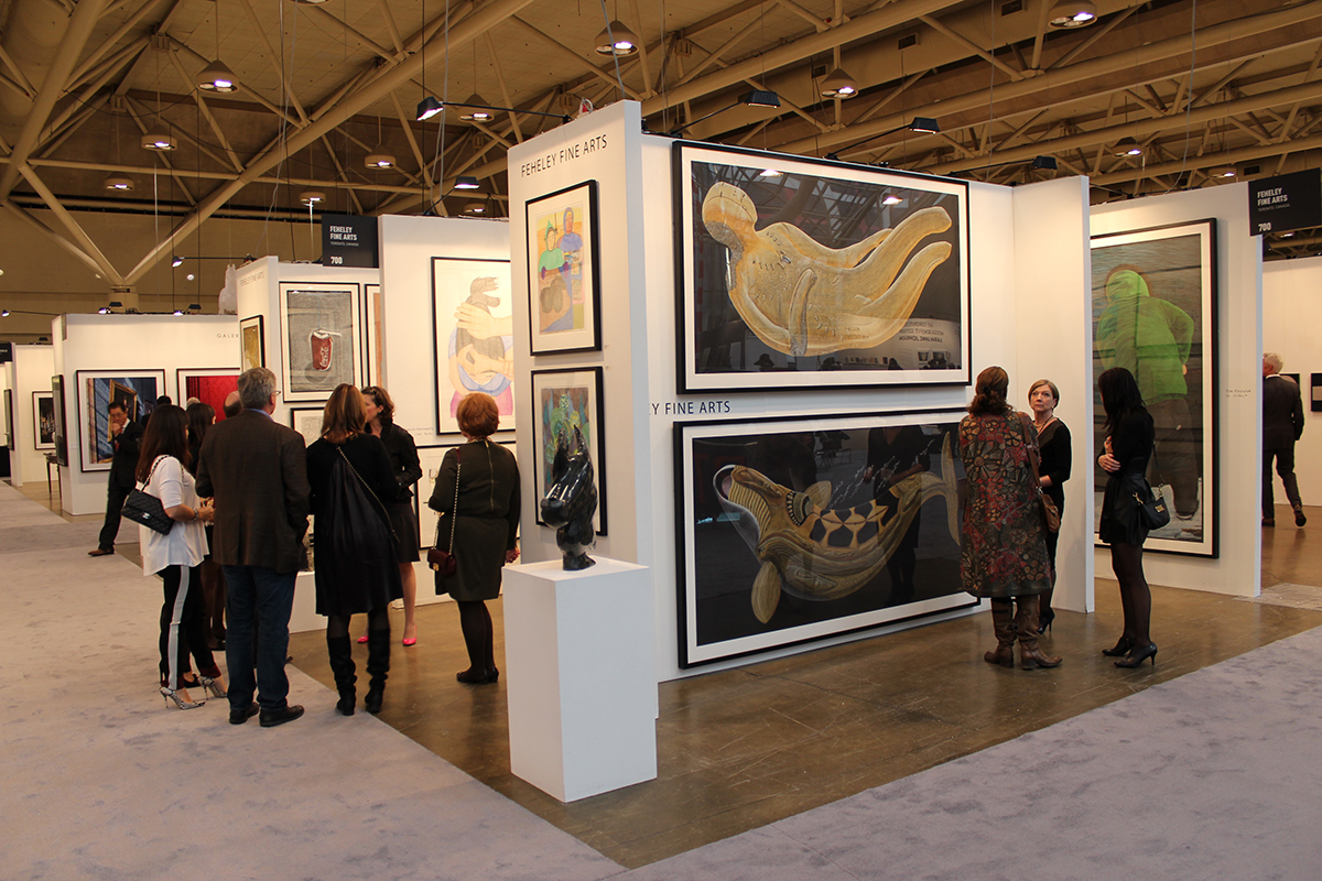 """Featured image for """"Art Toronto: """"Feheley Fine Arts' salon hang of contemporary Inuit work took the cake."""""""""""