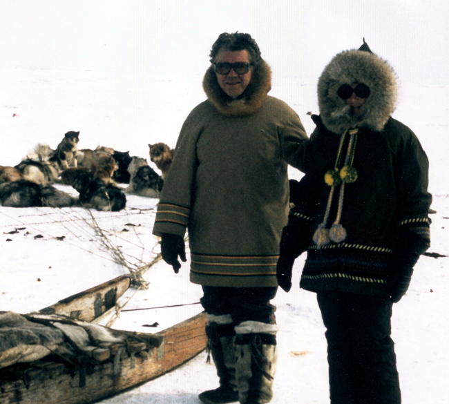 Pat and Budd Feheley in Igloolik, 1976