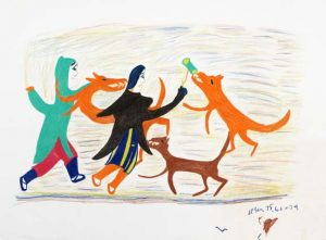 FIGURES WITH DOGS