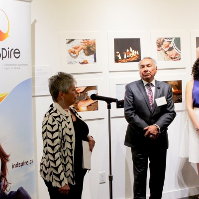 Indspire reception held at Feheley Fine Arts