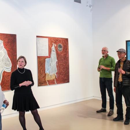Opening of Still Life, Jutai Toonoo Solo Exhibition, 2014