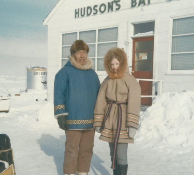 Pat with Pauta Saila, Cape Dorset, 1969