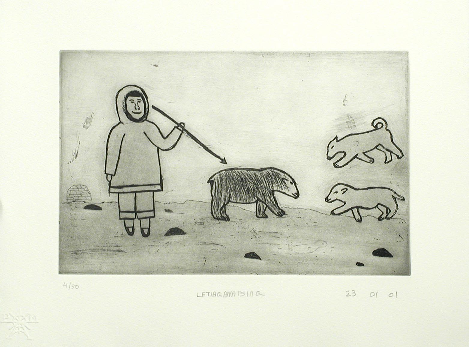 UNTITLED (HUNTER WITH ANIMALS)