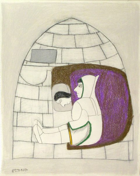 COMPOSITION (FIGURES IN IGLOO)