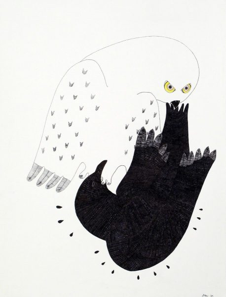 COMPOSITION (OWL AND RAVEN)