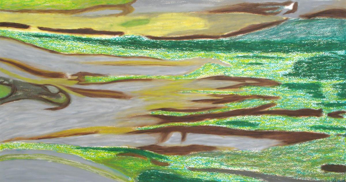 COMPOSITION (GREEN LANDSCAPE)