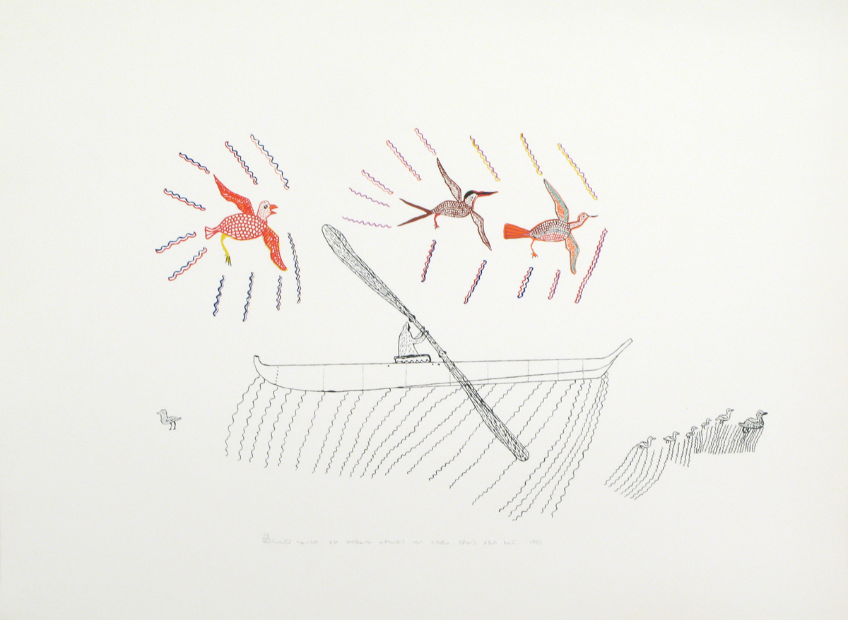 COMPOSITION (CANOEING WITH BIRDS)