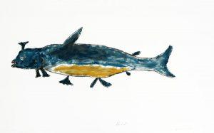 COMPOSITION (BLUE FISH)