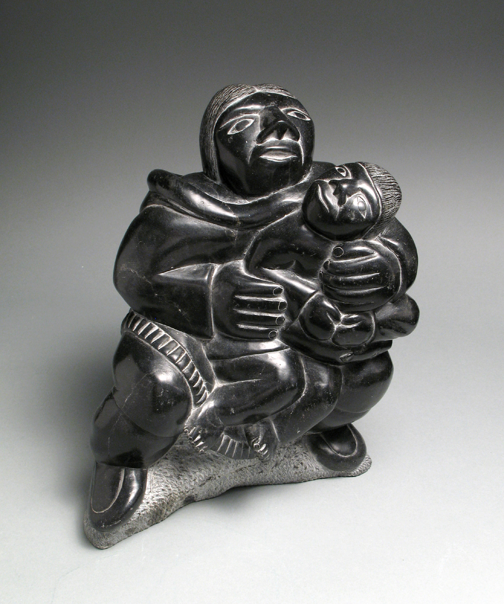 MOTHER AND CHILD WITH SEAL