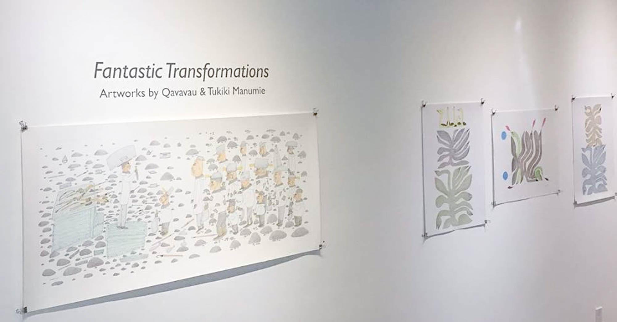 "Featured image for ""Fantastic Transformations: Artworks by Qavavau & Tukiki Manumie"""